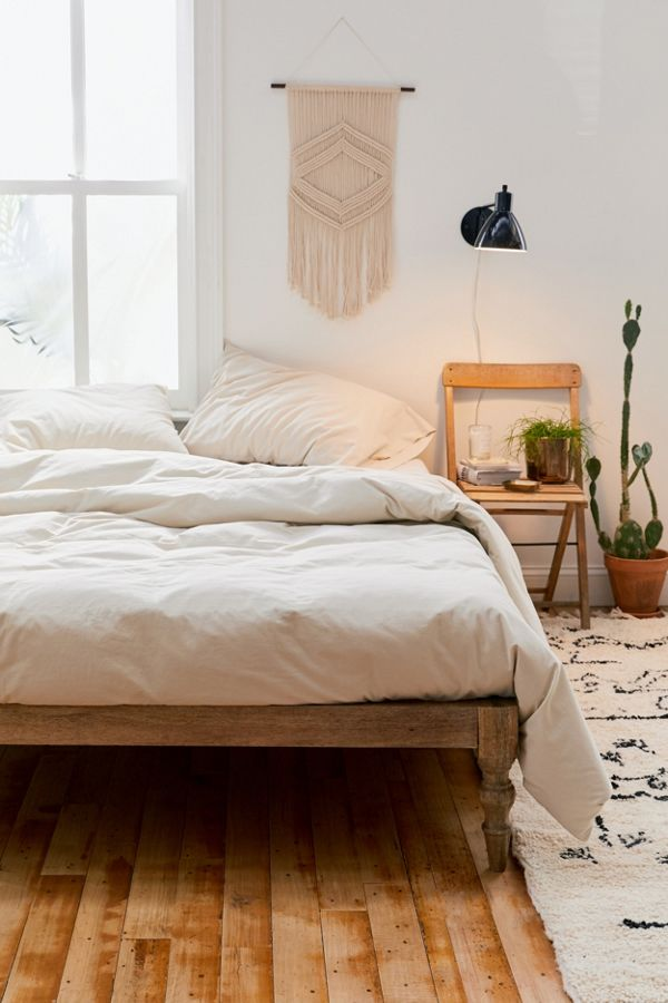 Slide View: 1: Washed Cotton Duvet Cover