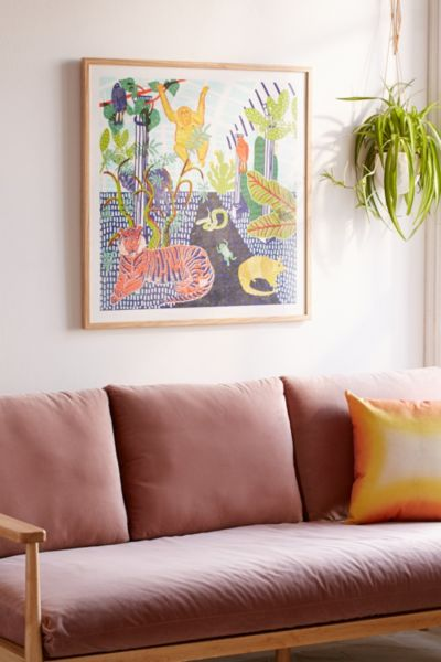 Shop Camilla Perkins Jungle Art Print from Urban Outfitters on Openhaus