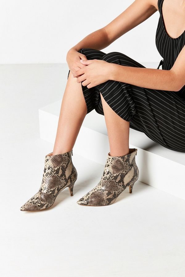 ee9f918a0be8 Snakeskin Kitten Heel Ankle Boot | Urban Outfitters