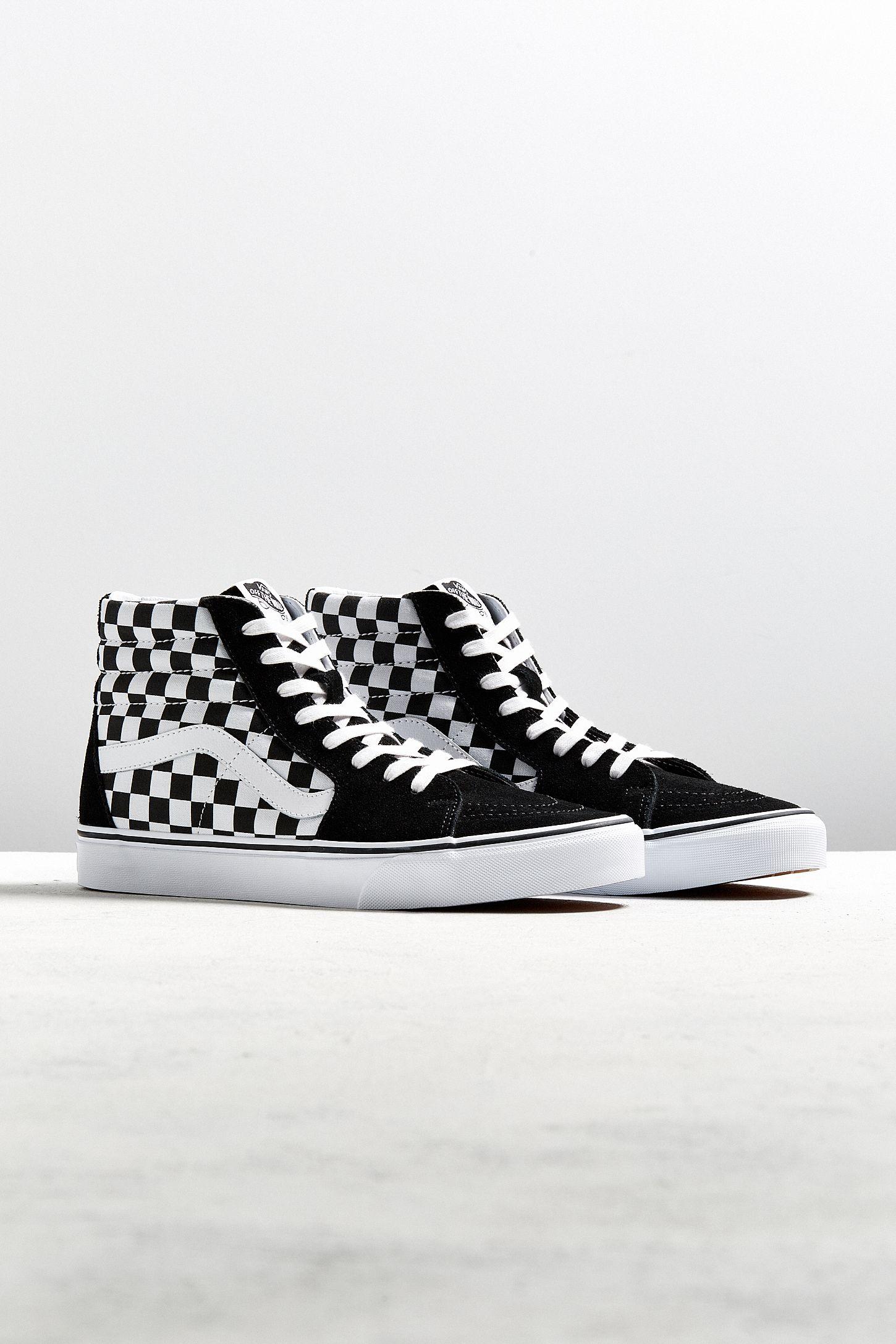 vans sk8hi checkerboard