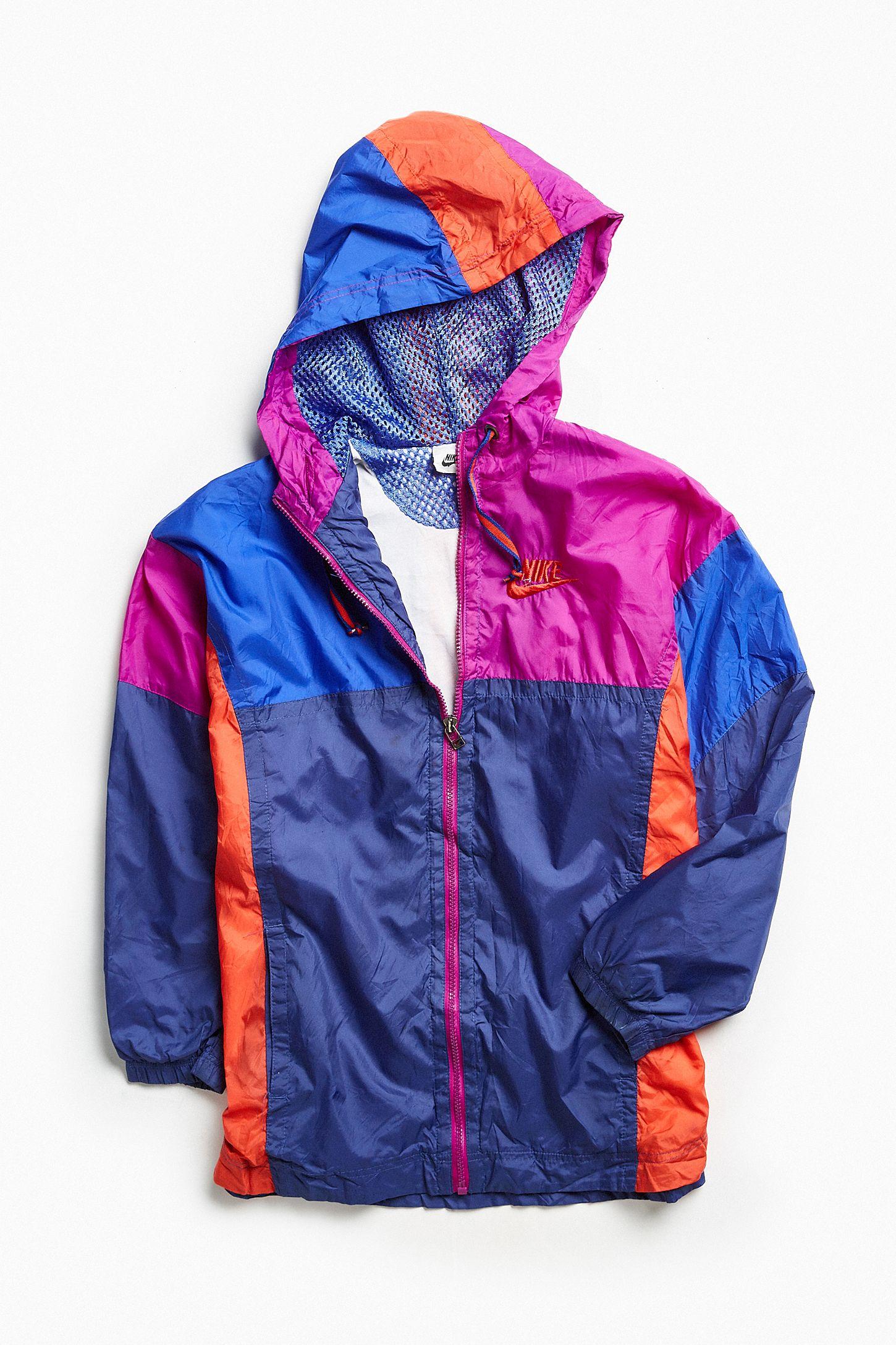 c2d82dc16941 Vintage Nike Blue Purple Red  90s Prep Sport Windbreaker Jacket ...