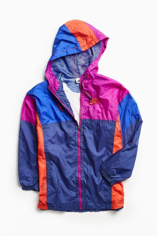 29c4e4149 Vintage Nike Blue Purple Red '90s Prep Sport Windbreaker Jacket ...
