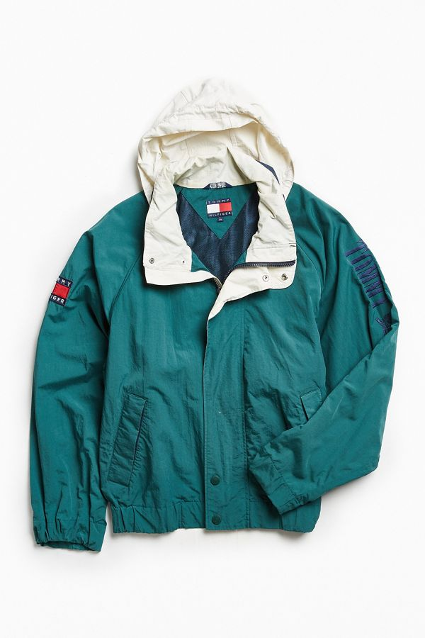 Urban Outfitters Vintage Vintage Tommy Hilfiger Green '90s Prep Sport Windbreaker Jacket from Urban Outfitters | ShapeShop