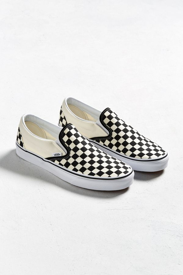 vans slip on checkboard