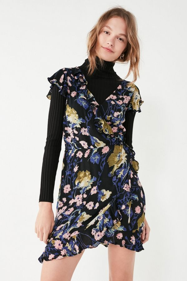 c1dfeb62167f90 Pins And Needles Ruffle Wrap Dress | Urban Outfitters