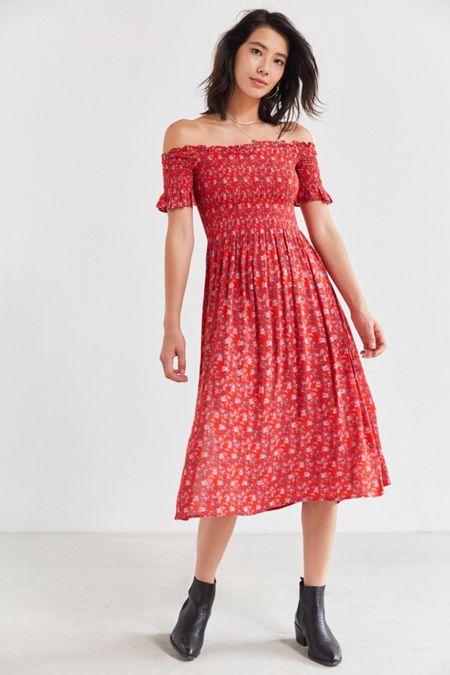 4d319ac4d7 Kimchi Blue Off-The-Shoulder Smocked Dress