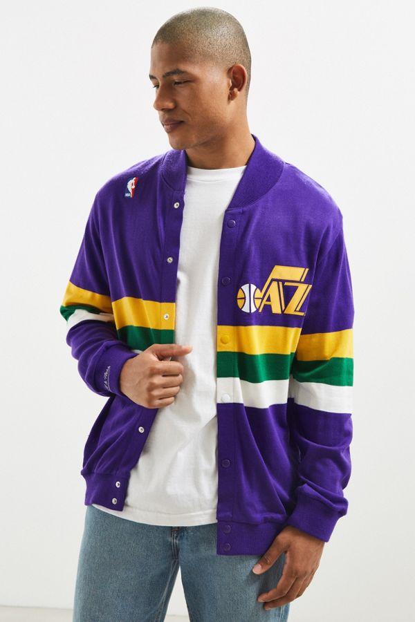 online retailer 58cd5 b59c0 Mitchell & Ness Utah Jazz Snap Sweater