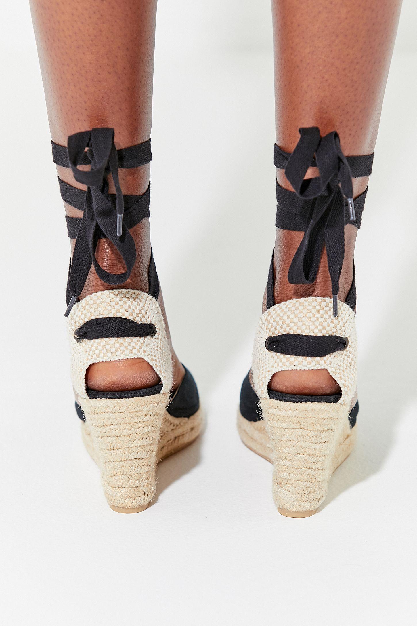 dc547e35a04f Slide View  6  Soludos Black Linen Espadrille Tall Wedge Sandal