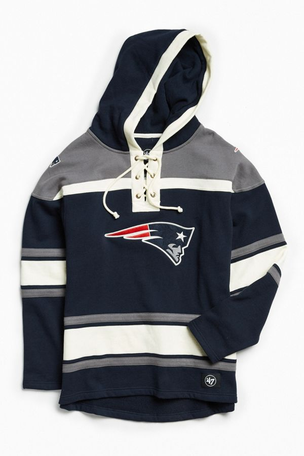 buy popular 6d799 0424c '47 Brand New England Patriots Lacer Hoodie Sweatshirt