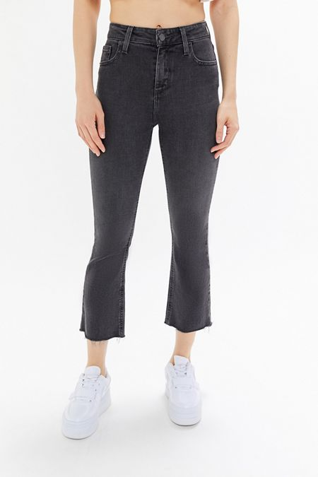 5a11fe96a BDG High-Rise Cropped Kick Flare Jean - Washed Black