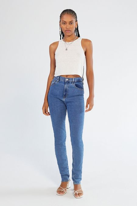 ad9e873ed BDG Girlfriend High-Rise Longline Jean – Medium Wash