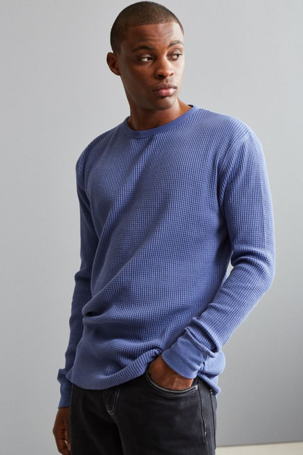 56178c4536b6 UO Waffle Thermal Crew Long Sleeve Tee | Urban Outfitters
