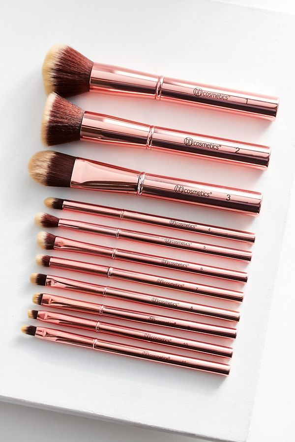 Bh Cosmetics Metal Rose 11 Piece Brush Set Urban Outfitters
