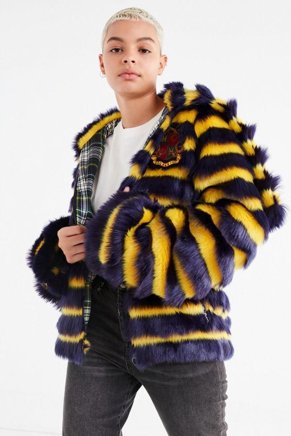 top fashion f9071 dfaee Puma Fenty by Rihanna Faux Fur Striped Jacket