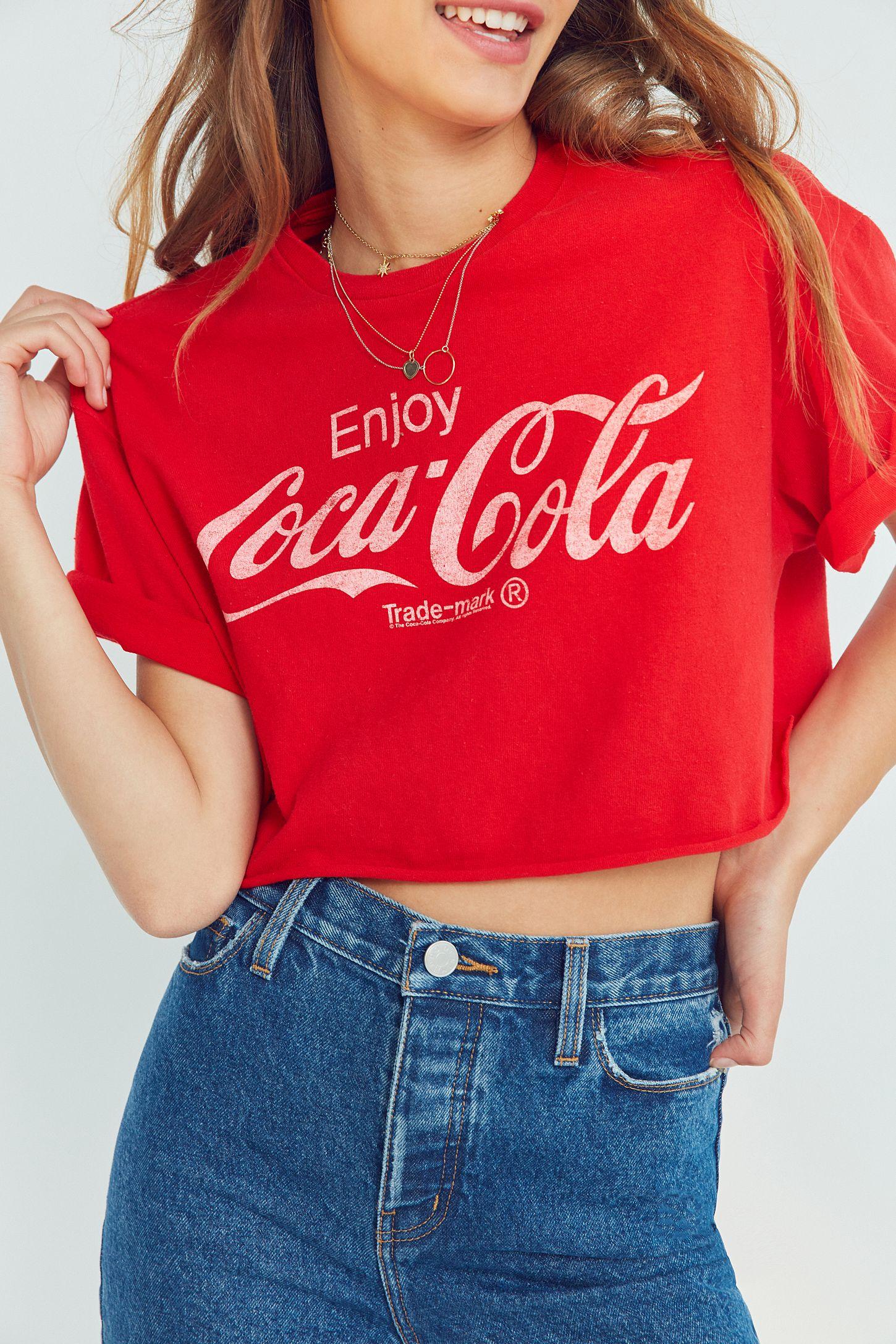 a8a1037b85e4f Junk Food Coca-Cola Cropped Tee