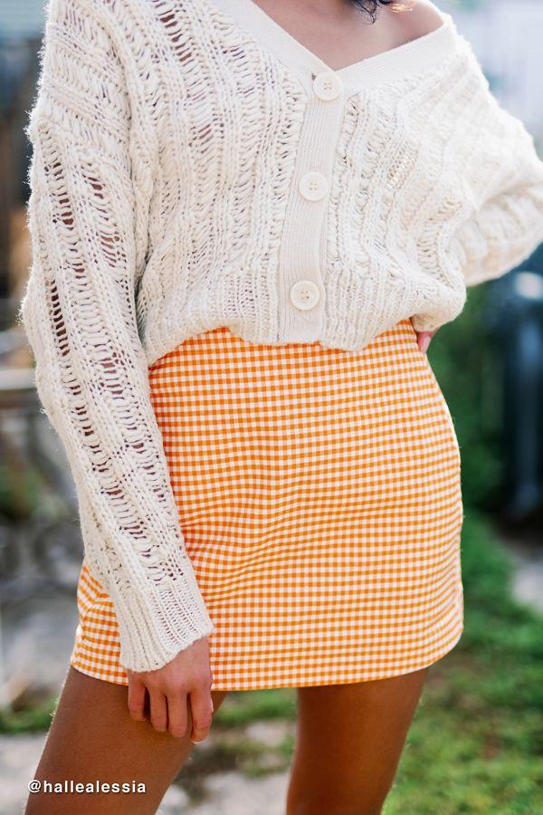 c46116cb1e4 Slide View  1  Cooperative Gingham Side-Pocket Mini Skirt