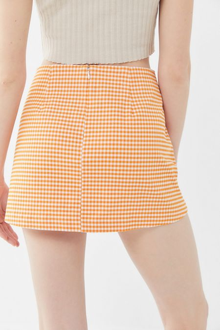 938c7ea3c8 Cooperative Gingham Side-Pocket Mini Skirt