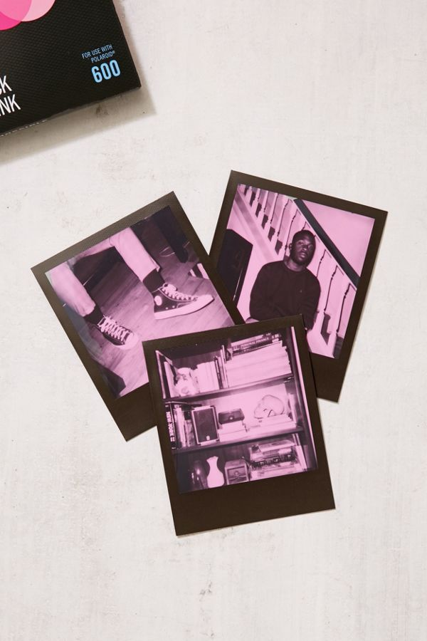 6cb660960f1 Impossible Color Polaroid 600 Instant Film - Black + Pink Frame ...