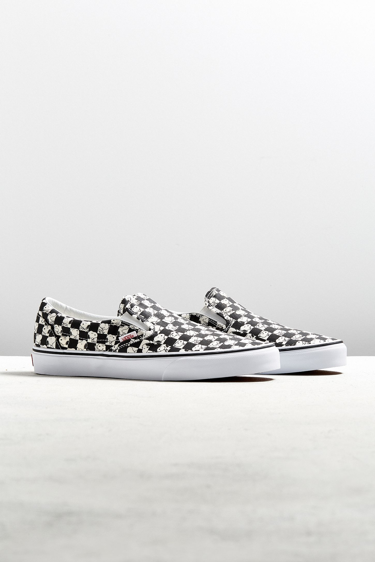 bcccda15a8e Vans X Peanuts Classic Slip-On Snoopy Checkerboard Sneaker