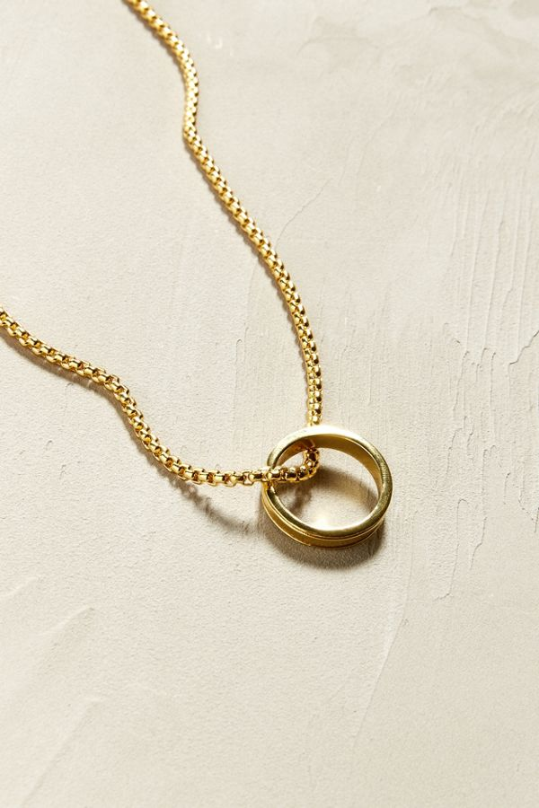 91964c1ec UO Ring Pendant Necklace | Urban Outfitters