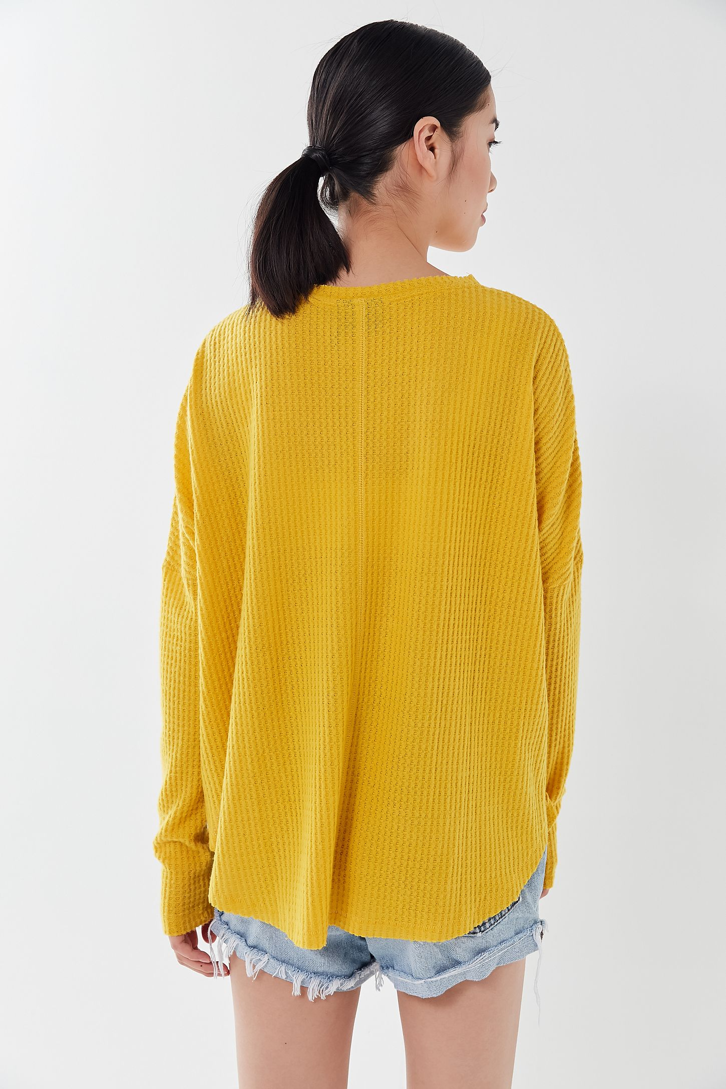 UO Out From Under Jojo Oversized Thermal Button From Top