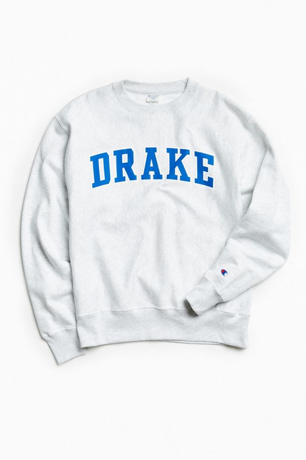 b085c431 Champion Drake University Reverse Weave Crew Neck Sweatshirt | Urban ...