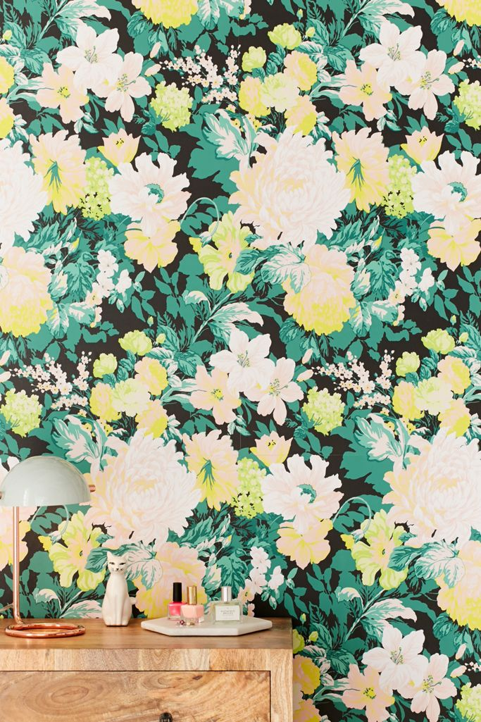 Madison Floral Removable Wallpaper Urban Outfitters
