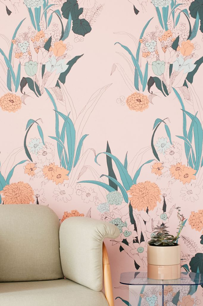 Willa Wildflower Removable Wallpaper Urban Outfitters