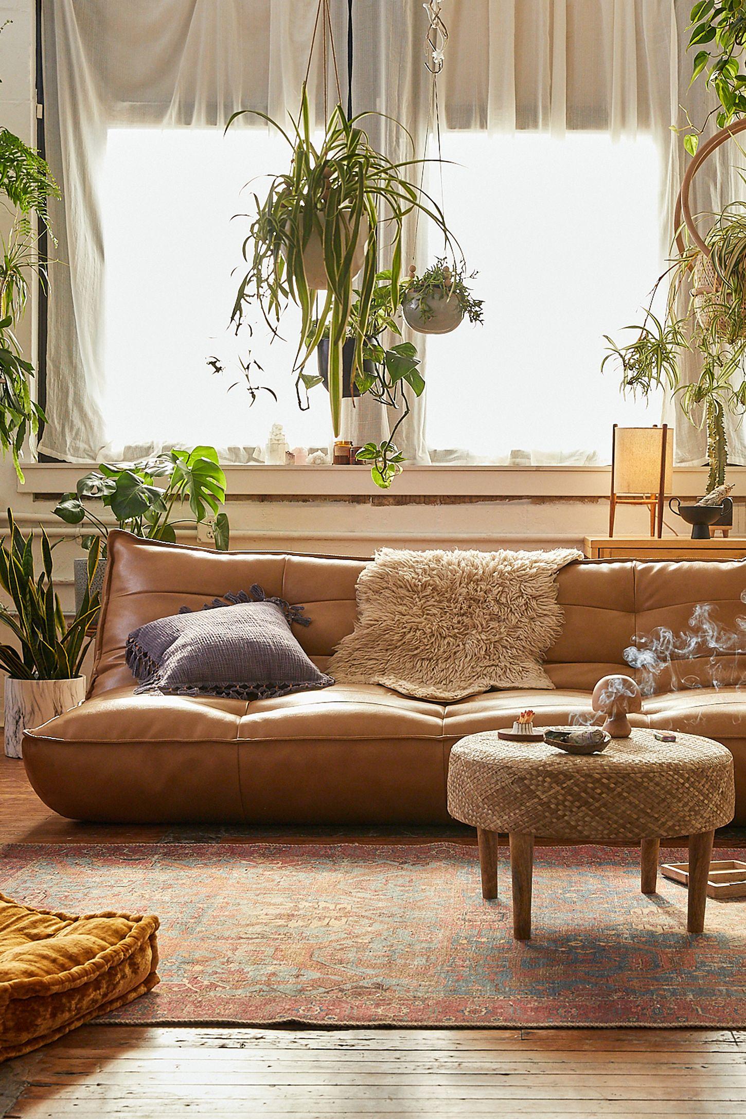 Greta Recycled Leather XL Sleeper Sofa