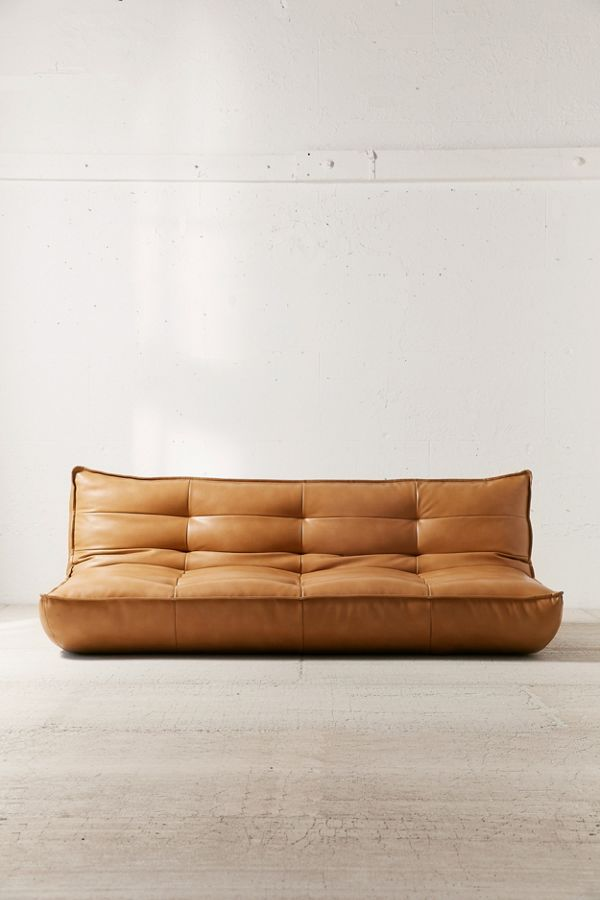 Greta Recycled Leather XL Sleeper Sofa