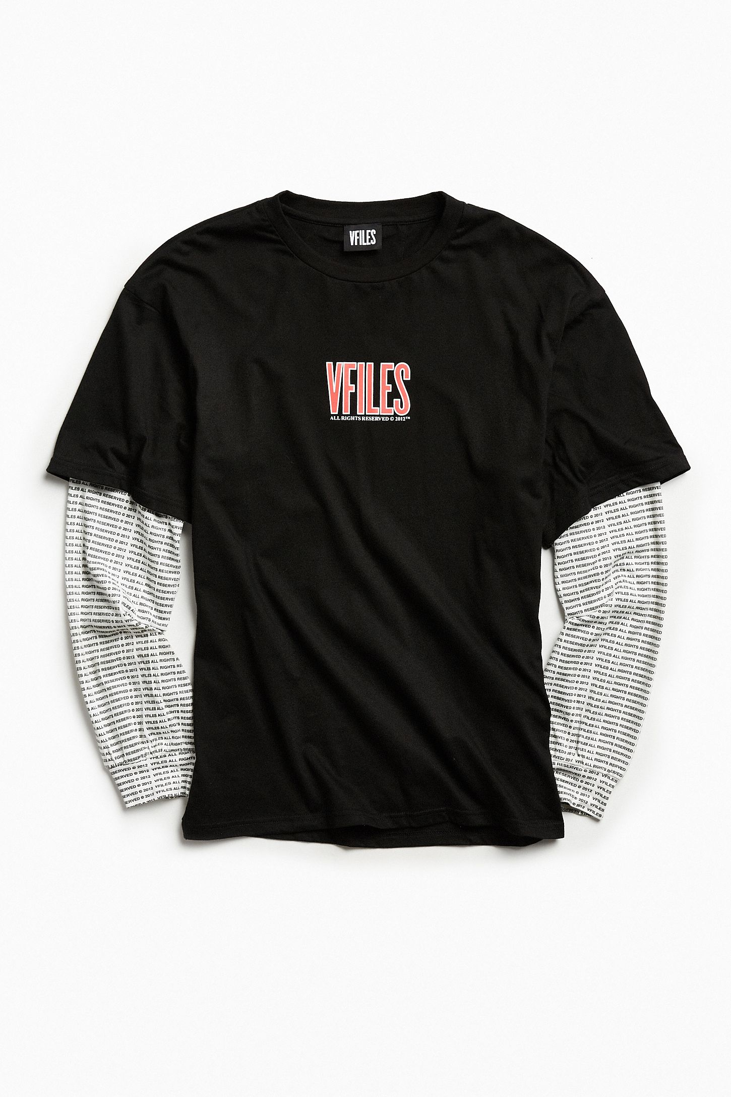 65fd21bf5 VFILES Oversized Layered Long Sleeve Tee | Urban Outfitters