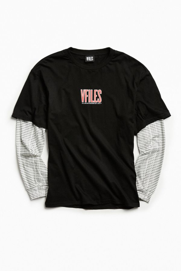 297bcfd290 VFILES Oversized Layered Long Sleeve Tee