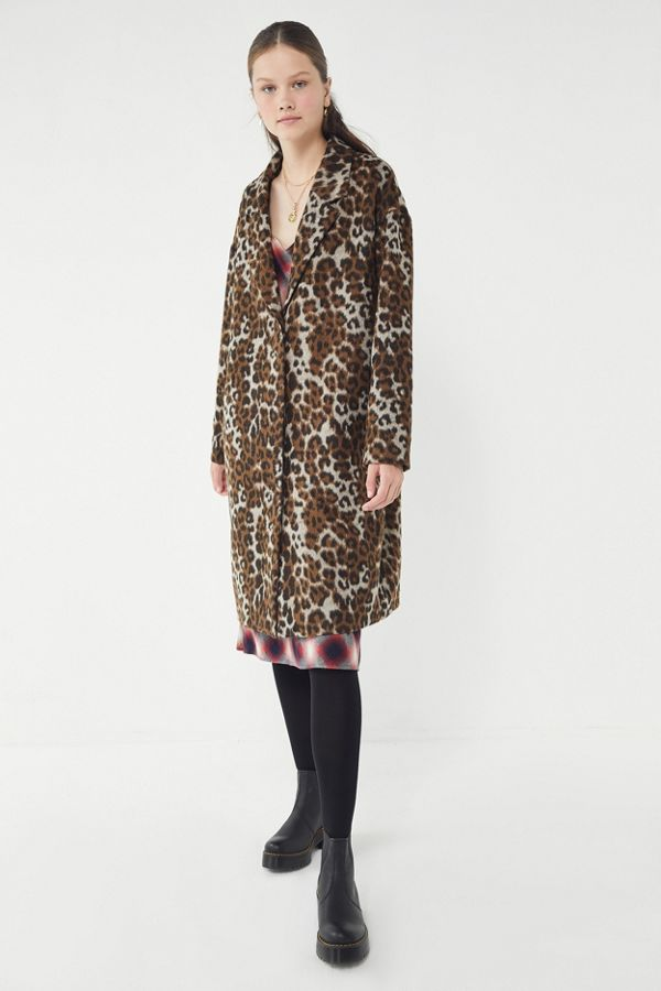 cff1d8e8dff680 UO Leopard Print Overcoat