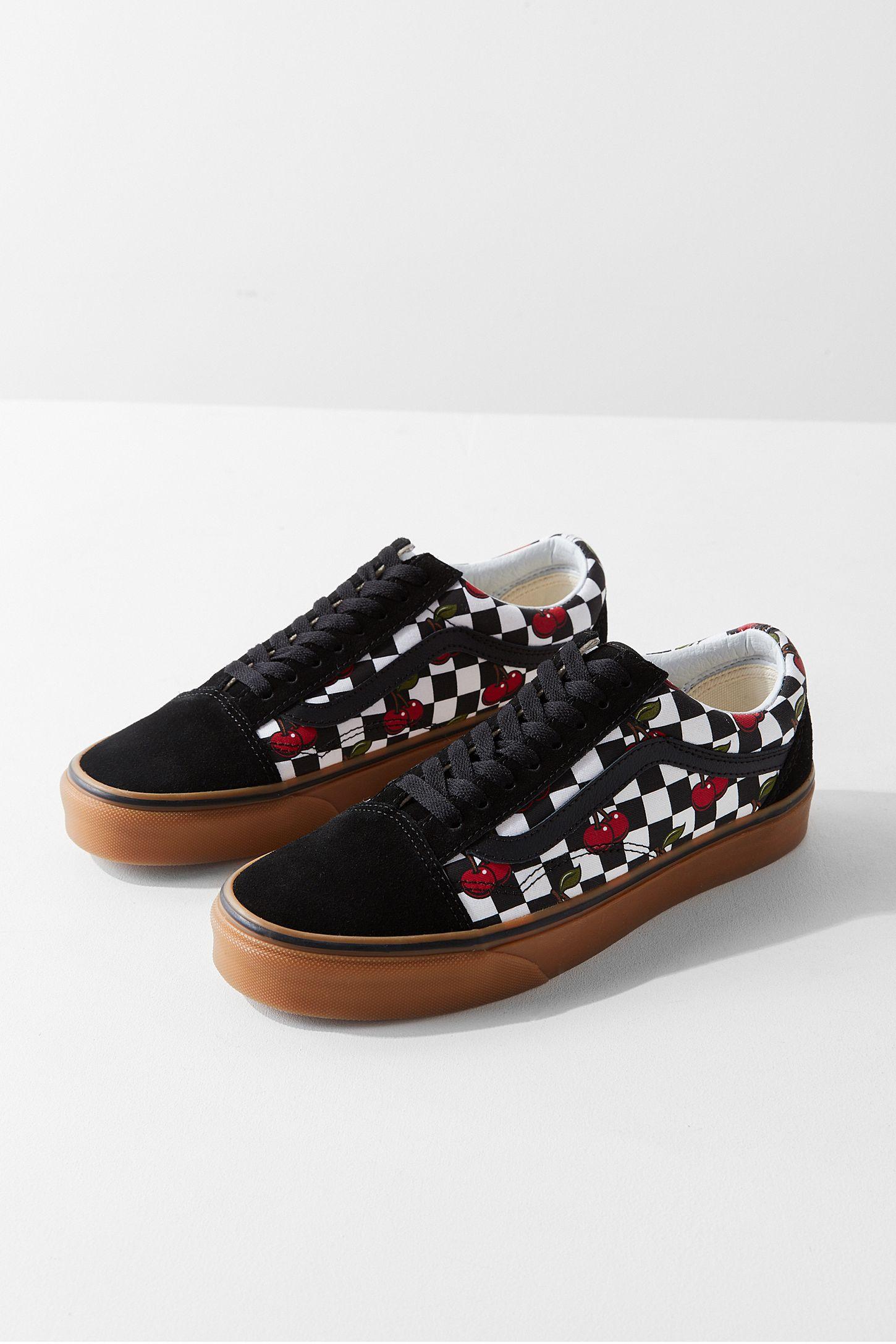 8c5ddc8137 Vans Cherry Checkerboard Old Skool Sneaker