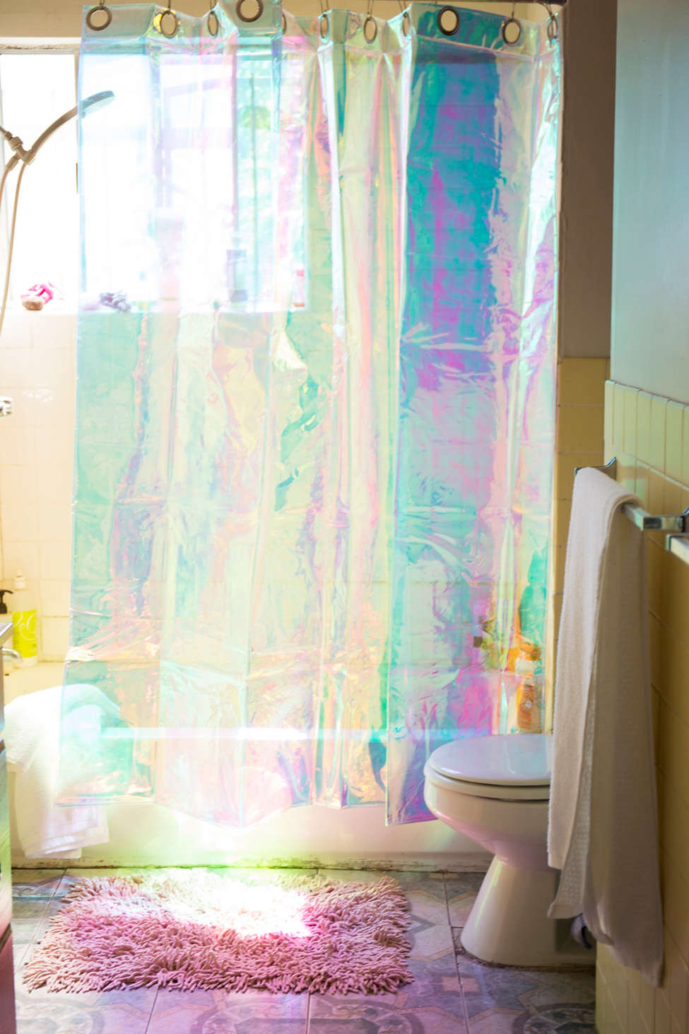 Slide View: 1: Iridescent Shower Curtain