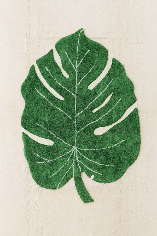 Monstera Leaf Washable Rug Urban Outfitters