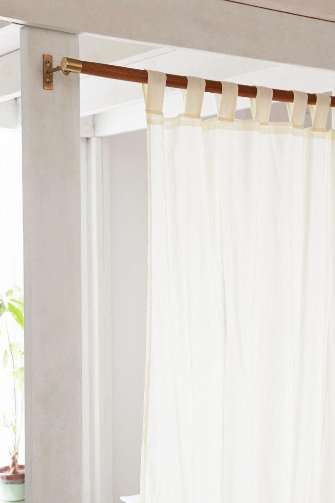 Mid Century Modern Wood Curtain Rod