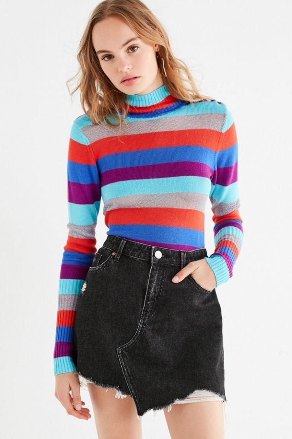 72096214d8 BDG Asymmetrical Denim Mini Skirt   Urban Outfitters Canada