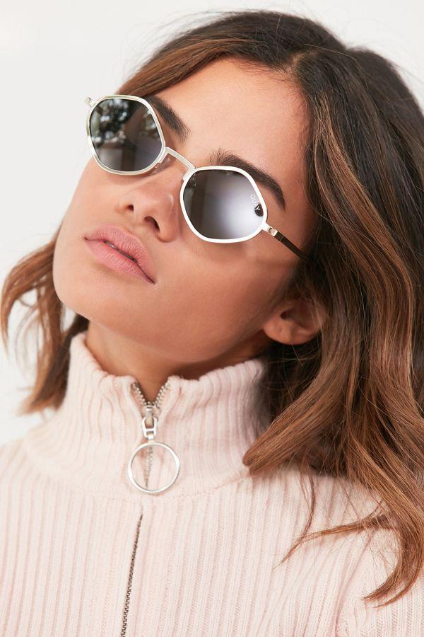 8d413a9f2a Quay Purple Honey Geometric Sunglasses