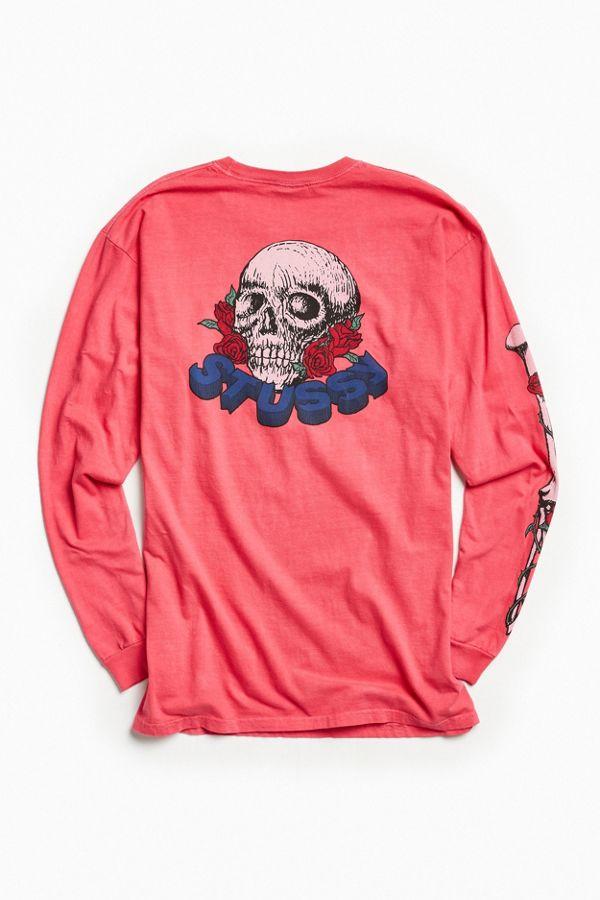 71d6d7d47ffe2 Stussy Skull And Roses Long Sleeve Tee