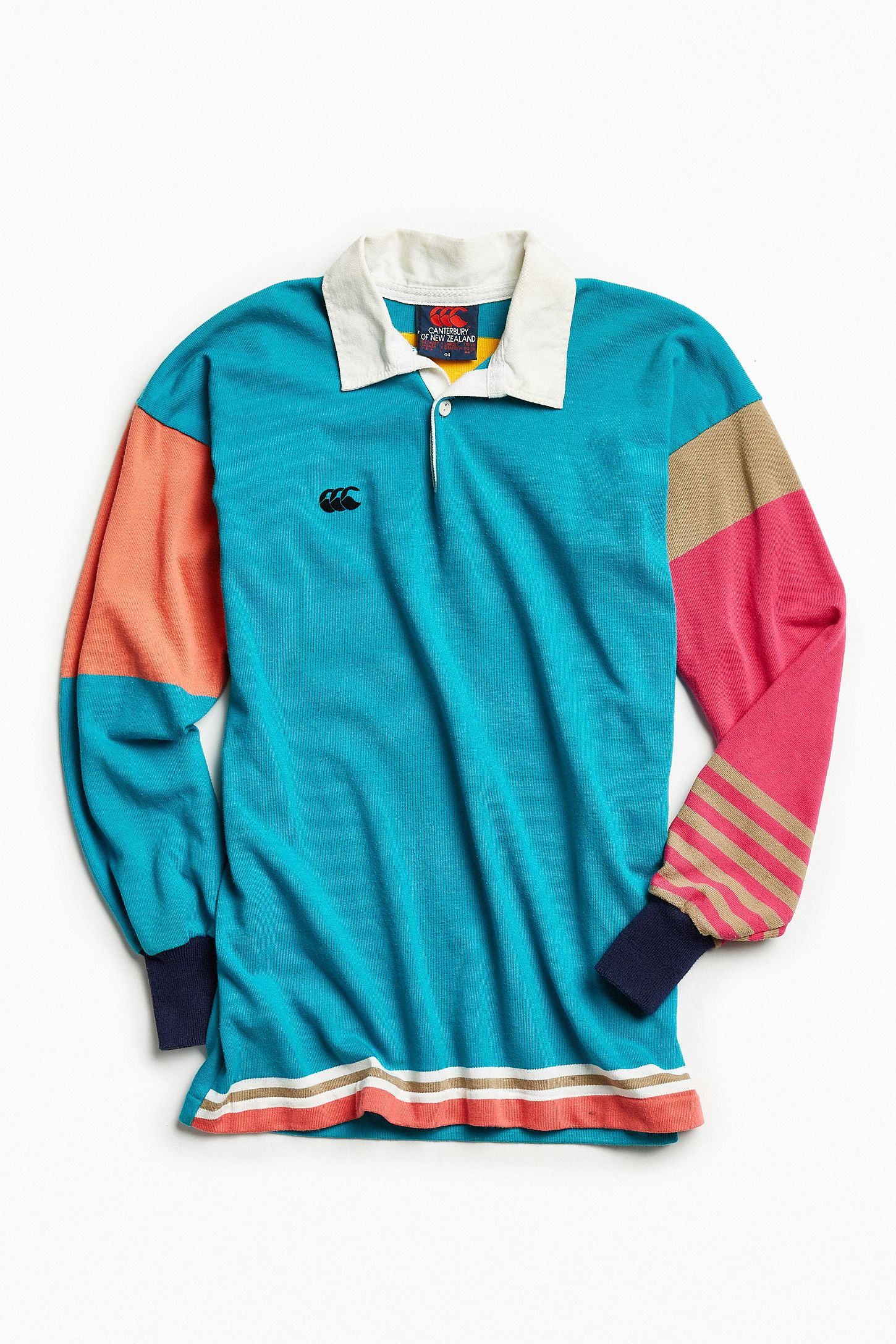 61396a9a83c Vintage Canterbury New Zealand Teal Rugby Shirt | Urban Outfitters