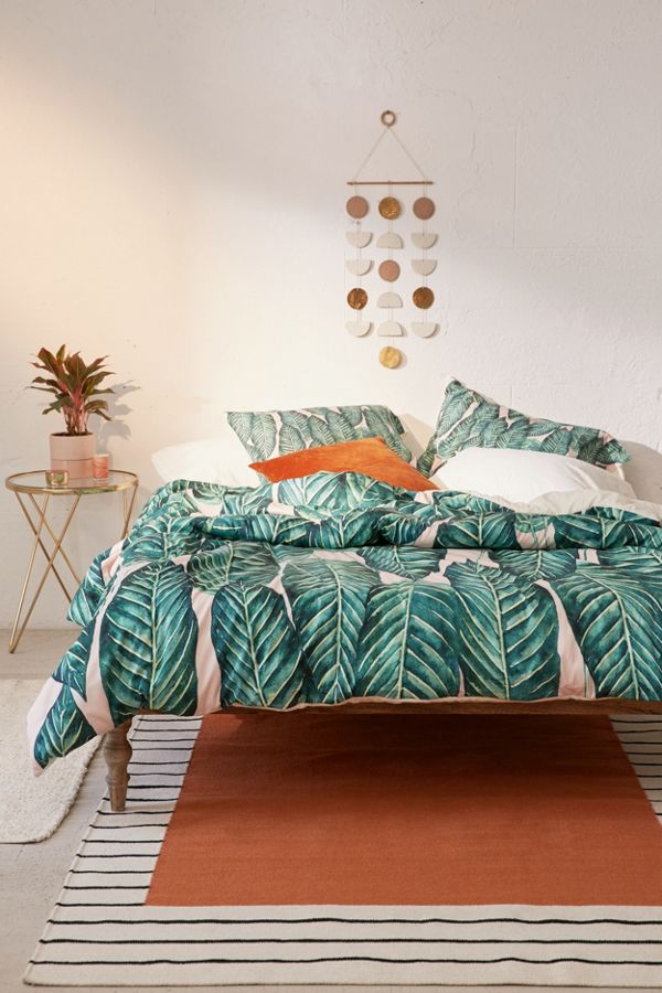 Slide View: 3: 83 Oranges For Deny Tropical Serenity Duvet Cover