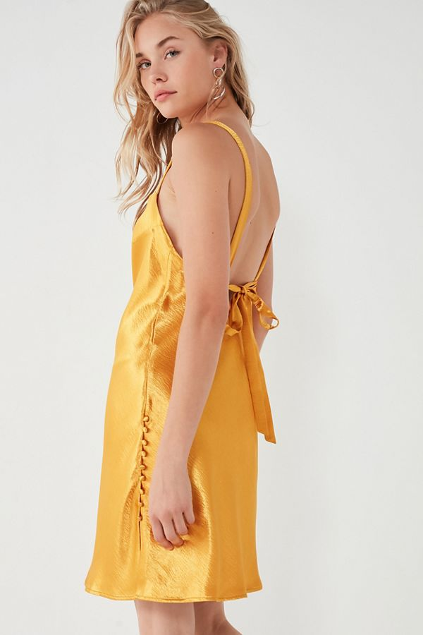 c4cf581f302b UO Soulmate Satin Bias-Cut Tie-Back Dress | Urban Outfitters