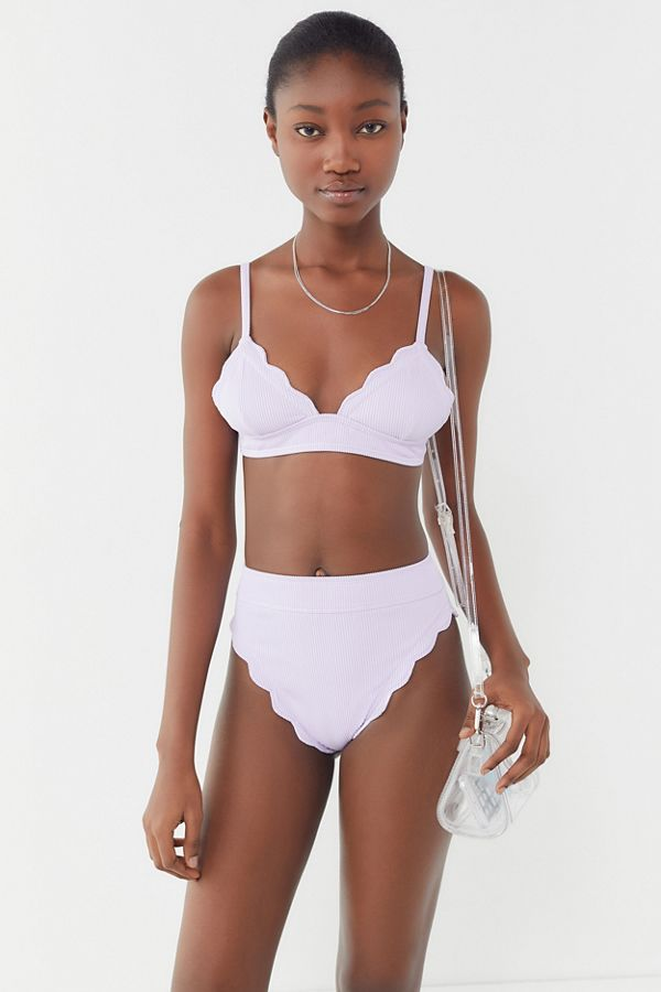 88fb86dcd56181 Slide View  3  Out From Under Chloe Scallop Bikini Top