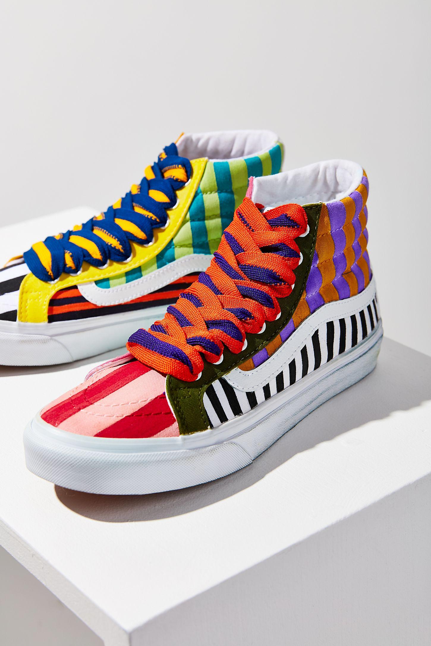 2beae91dfd Vans X UO Design Pop Color Painted Stripes Sk8-Hi Sneaker