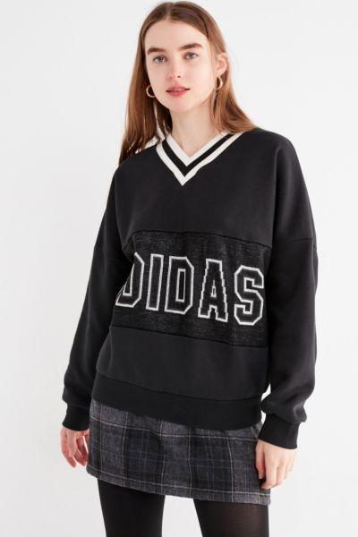 adidas v neck sweater