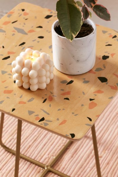 Emanuela Carratoni For Deny Sweet Terrazzo Texture Side Table Urban Outfitters