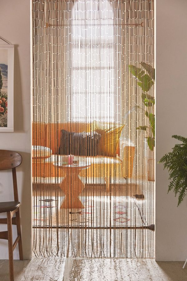 Bamboo Beaded Curtain Urban Outfitters