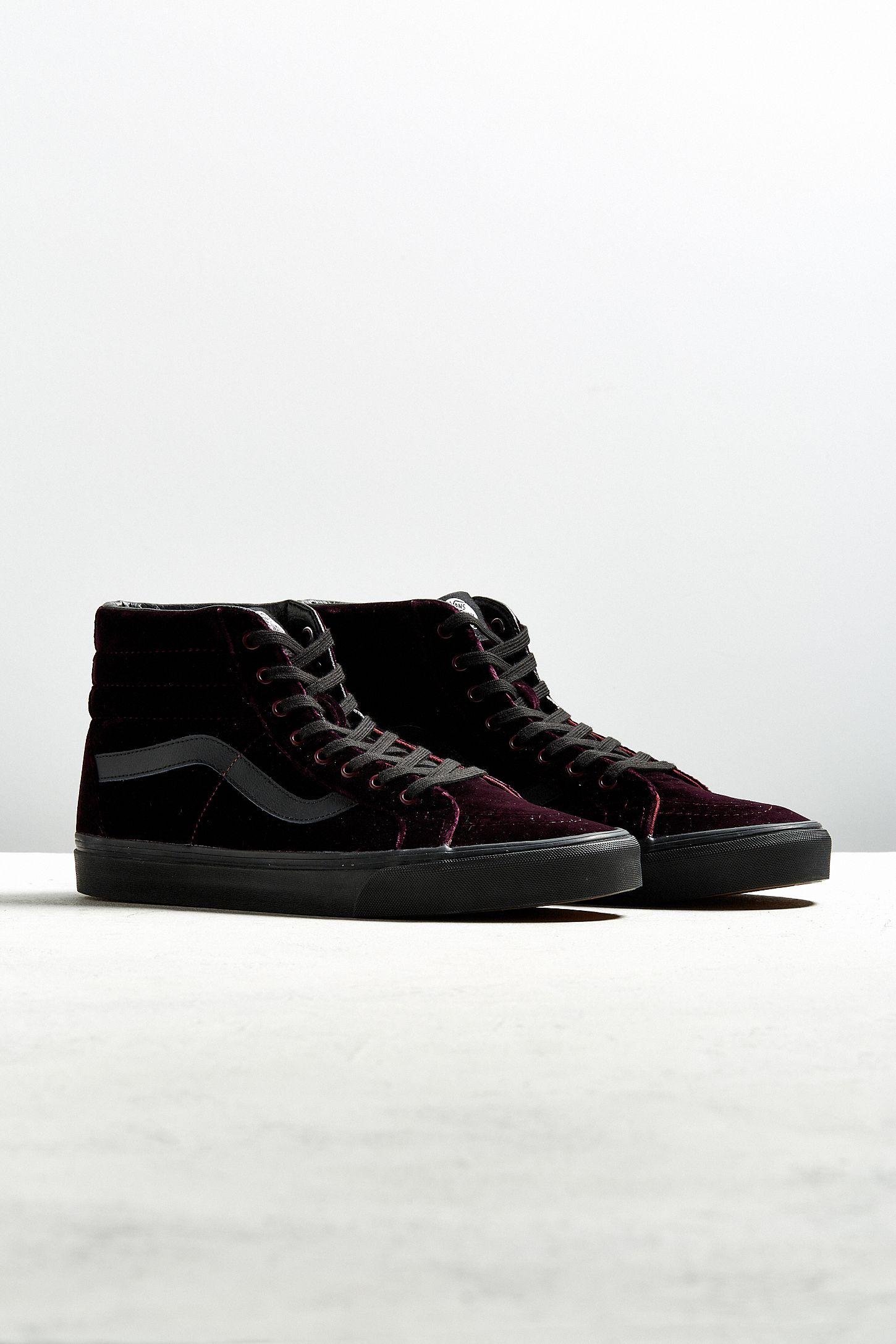 92a8b0cc38 Vans Sk8-Hi Reissue Burgundy Velvet Sneaker