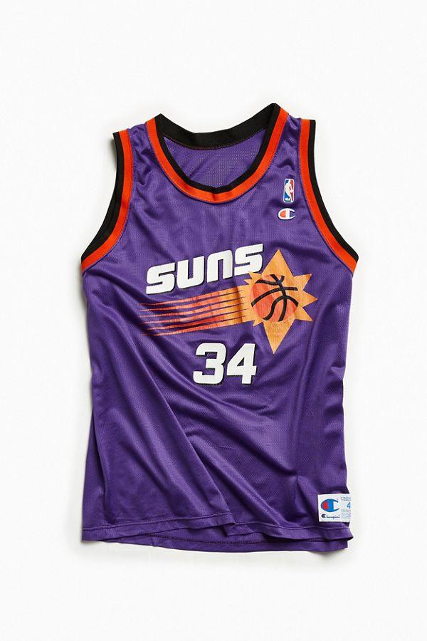 d0c81544 Vintage Phoenix Suns Charles Barkley Purple Basketball Jersey ...